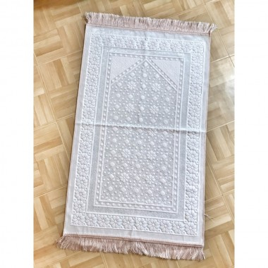 Tapis Velours Flocon - Rose